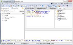 sql create table primary key autoincrement mariadb create table javatpoint