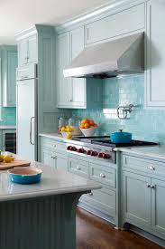 Subway Kitchen Backsplash Amazing Kitchen Backsplash Blue Subway Tile