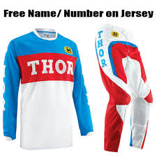 custom motocross jersey thor mx gp retro gear combo pro style mx