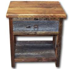 buy a hand made reclaimed barn wood night stand two tone made to