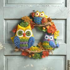 seasonal home decorations bucilla seasonal felt home decor owl wreath 86562
