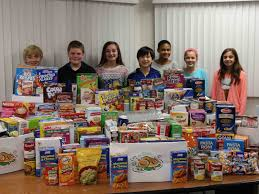 rocky point middle school holds thanksgiving food drive miller