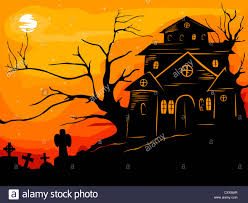 House Silhouette by Halloween Illustration Featuring The Silhouette Of A Haunted House