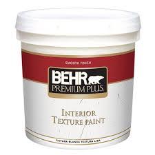 behr premium plus 2 gal smooth finish flat interior texture paint