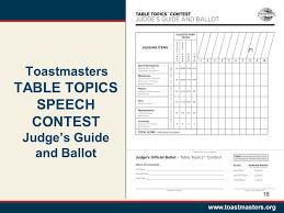 Table Topics Toastmasters Humorous Speech U0026 Table Topics Judges U0027 Training District 8 Sandy