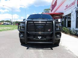 Ford F150 Truck Accessories - blacked out 2017 ford f150 with grille guard topperking