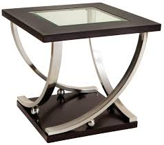 square glass top coffee table standard furniture melrose square end table with glass table top