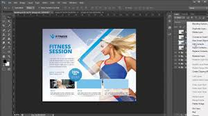 business flyer template photoshop tutorial