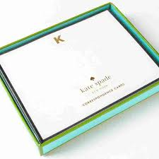 k monogram flat cards by kate spade new york set of 10