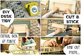 Desk Tidy Set Diy Desk Tidy Upcycle A Cereal Box And Fabric Scraps And Create