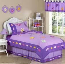 bedroom girls lavender bedding painted wood wall decor lamp