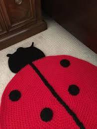 Ladybug Area Rug Handmade Crochet Ladybug Rug By Peanutbutterdynamite On Etsy