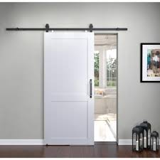 Hardware For Barn Style Doors by Pinecroft 36 In X 84 In Millbrooke White H Style Pvc Vinyl Barn