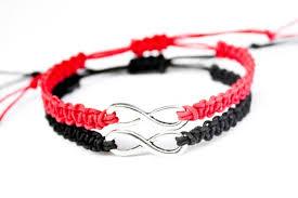 red friendship bracelet images Infinity friendship bracelets red and black couples bracelets etsy jpg