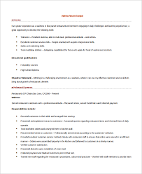 Hostess Resume Example by Waitress Resumes Create My Resume Best Server Resume Example