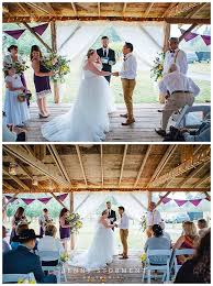 rainy backyard wedding