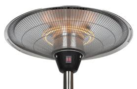 Floor Standing Electric Patio Heater by Fire Sense Stainless Steel 1500 Watt Electric Tabletop Patio