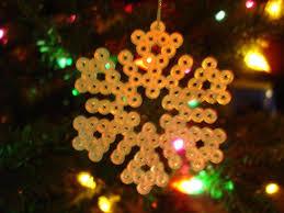 snowflake ornament perler bead pattern perler bead patterns
