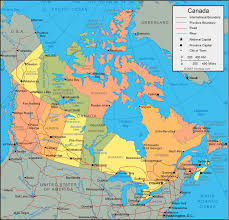 canadian map cities map of canada and us with cities major tourist attractions maps