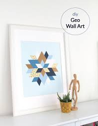 Corner Wall Art by Diy Geo Wall Art