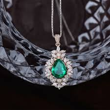 gold diamond emerald necklace images Loverjewlery solid 18kt rose gold natural marquise cut diamond jpg