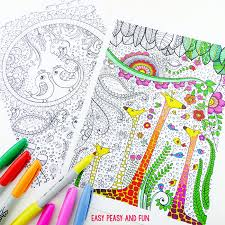 5 free coloring printables for because coloring is the