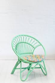 rattan round chair pastel green kids decor nursery u0026 kids