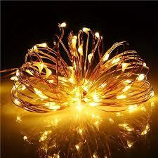 solar powered string light 100 led white