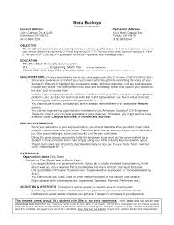 Job Skill Examples For Resumes Non Experienced Resume Resume For Your Job Application