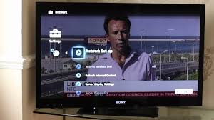 3d Programs On Tv Sony Bravia Tv Set Up And Quick Guide Youtube