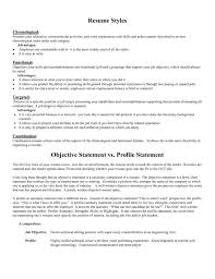 Functional Resume Vs Chronological Job Objectives On Resume How To Write A Career Objective On A