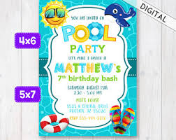 pool invite etsy