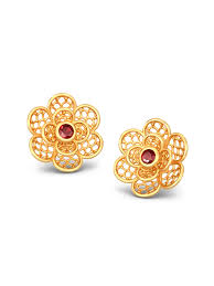 earrings in gold gold earrings buy gold earrings online in india