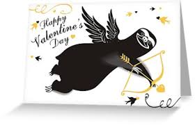 sloth valentines day card sloth cupid bow arrow valentines day greeting cards by