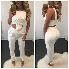 white jumpsuits and rompers for 2016 2 set jumpsuit rompers white jumpsuit