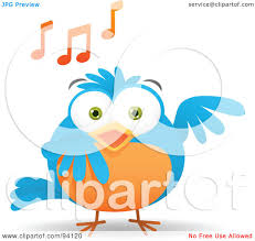 royalty free rf clipart illustration of a musical blue and