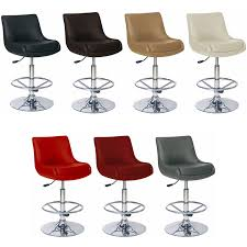 Red Bar Stools With Backs Chrome Metal Pedestal Base For Black Leather Swivel Barstool With