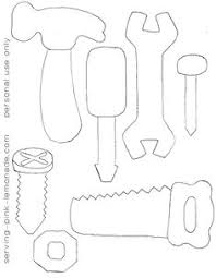 construction tools coloring pages serving pink lemonade felt tools i am going to use these as