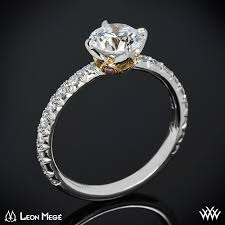 lotus engagement ring lotus diamond engagement ring by mege 1244