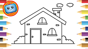 Modern House Drawing by House Drawing For Colouring U2013 Modern House