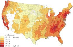 Map Of Mountain Ranges In The United States by Spatial Variation In Risk And Consequence Of Batrachochytrium