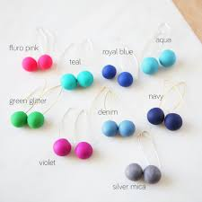 modern ball earrings lots of colours available unique art