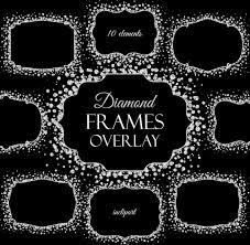 diamond pattern overlay photoshop download diamond frames overlay clipart digital sparkle frames