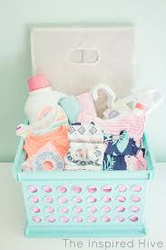 baby basket gift laundry basket baby shower gift the inspired hive