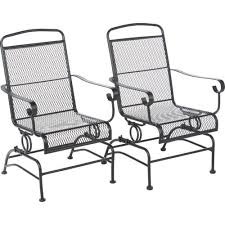 Patio Rocking Chair Outdoor Steel Mesh Patio Rocking Chair Set Space Design