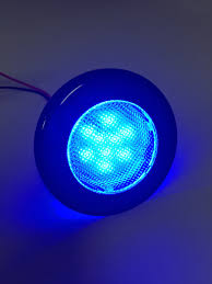 Flush Mount Led Lights Marine Boat Rv Flush Mount Led Blue Round Courtesy Light Ip67