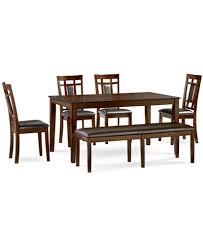 dining room sets for 6 delran 6 dining room furniture set created for macy s