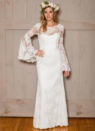 trumpet sleeve wedding dress 2017 sleeve modest wedding dresses overlay lace bell sleeves