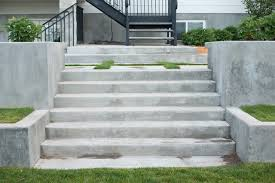 concrete stairs home design styles