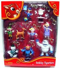 rudolph the nosed reindeer hanging figurines clip ons